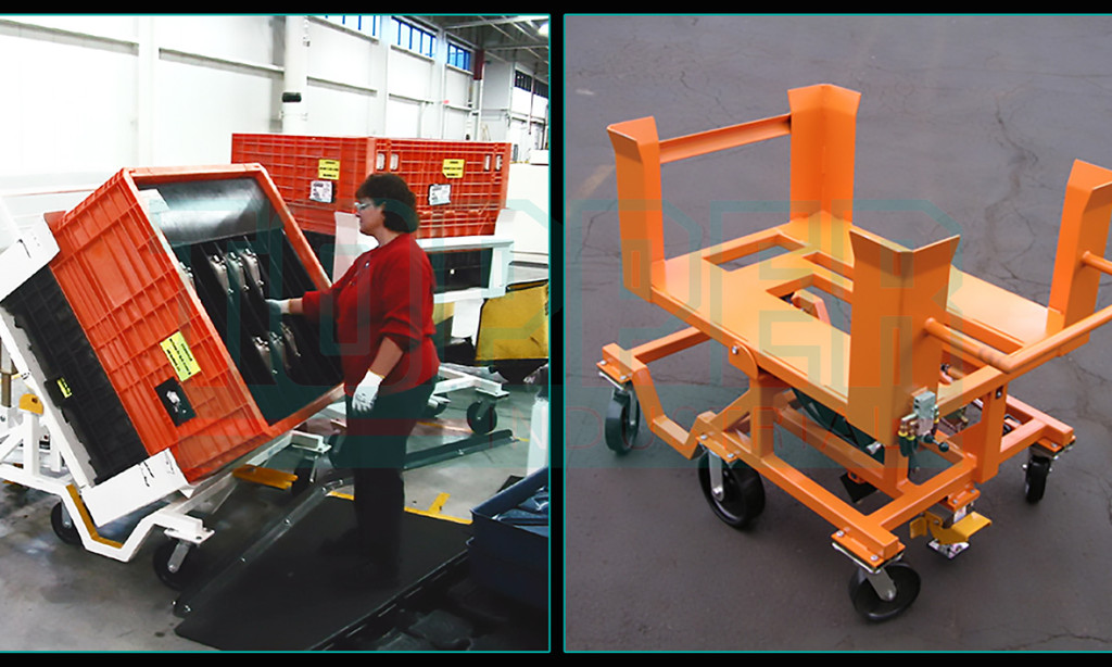 Topper Industrial 60 degree Tilt Carts