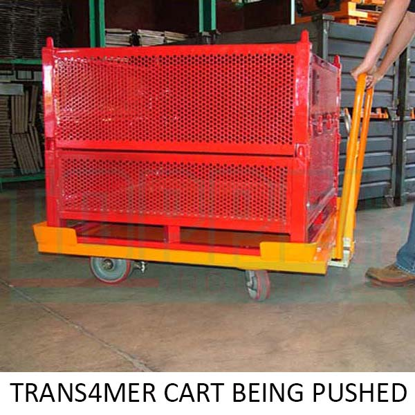 Transformer Cart being Pushed. Topper Industrial