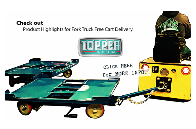 Innovations in Cart Delivery: Quad Steer Cart with Rotate Top.