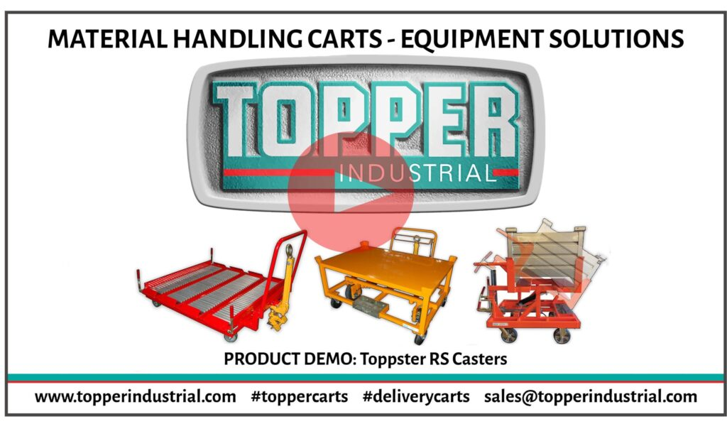 RS Casters Product Demo presented at ProMat DX by Topper Industrial.